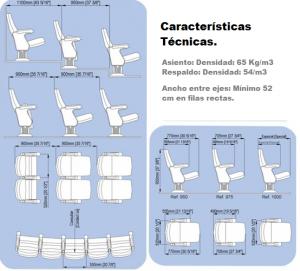 Características Técnicas Butaca Trallok