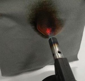 pruebas ignifugas sobre textil