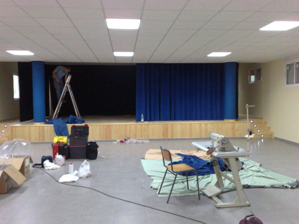 instalación de telones para teatros